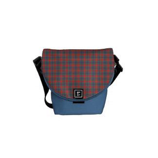 Fraser of Lovat Ancient Tartan Light Blue Plaid Commuter Bag