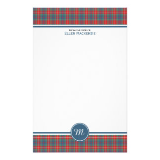 Fraser of Lovat Ancient Tartan Monogram Stationery