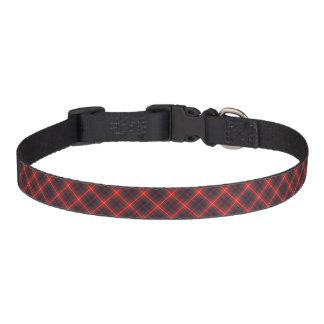 Fraser of Lovat Bright Red and Navy Blue Tartan Dog Collar