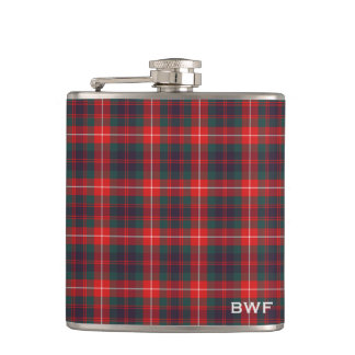 Fraser of Lovat Clan Tartan Monogram Hip Flask