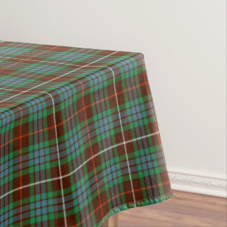 Fraser of Lovat Green and Brown Hunting Tartan Tablecloth