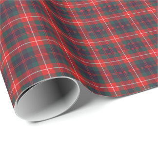 Fraser of Lovat Modern Tartan Wrapping Paper