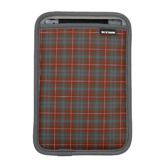 Fraser of Lovat Reproduction Tartan Dark Red Plaid iPad Mini Sleeve