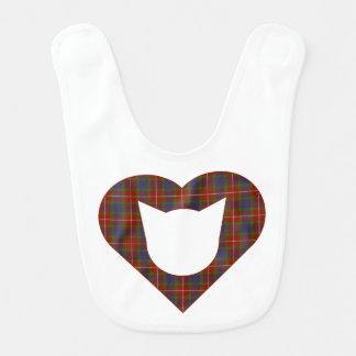 Fraser (of Lovat) Tartan Cat/Heart Bib