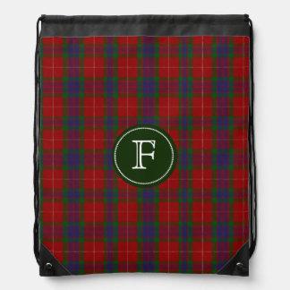 Fraser Tartan Plaid Monogram Backpack