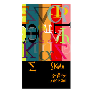 Fraternity / sorority profile cards Double-Sided standard business cards (Pack of 100)