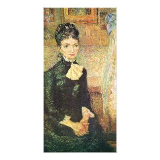 Frau, neben einer Wiege sitzend by van Gogh Picture Card
