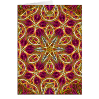 Frayed threads kaleidoscope vertical card