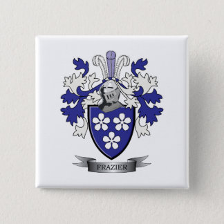 Frazier Family Crest Coat of Arms 15 Cm Square Badge