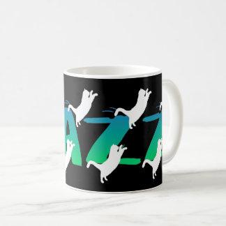 FRAZZ! Dancing Black Cat Mug