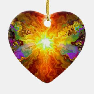 Frazzeled Fractal Hanging  Heart Ornament