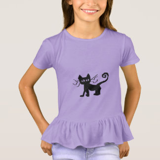 Frazzle Cat Girls Ruffle T-Shirt