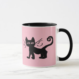Frazzle Kitty Black 11 oz Combo Mug