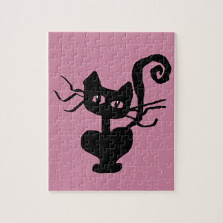 Frazzle Kitty Cartoon Cat Jigsaw Puzzle