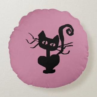 Frazzle Kitty Home Decor Round Cushion
