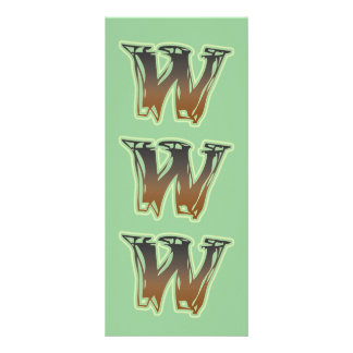 FRAZZLE MONOGRAM W CUSTOMIZED RACK CARD