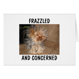 FRAZZLED AND CONCERNED CARD