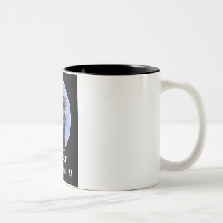 FRAZZLED EMU: I'M NOT STRESSED: HUMOR Two-Tone COFFEE MUG