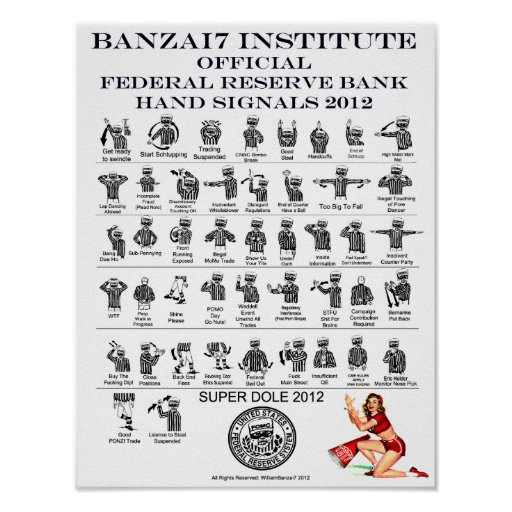 FRB Hand Signals for the Superdole Print