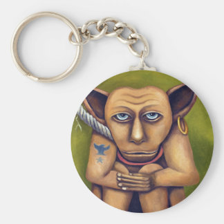 Freak on a Leash Basic Round Button Key Ring