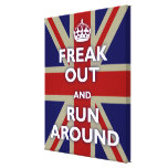 Freak Out and Run Around Gallery Wrapped Canvas