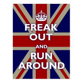 Freak Out Run Around Post Cards