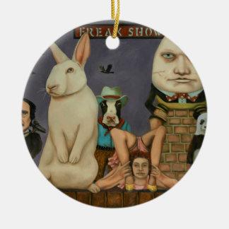Freak Show Ceramic Ornament