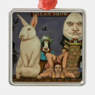 Freak Show Metal Ornament
