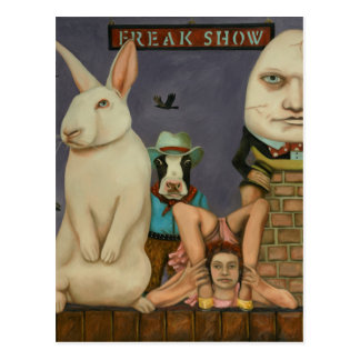 Freak Show Postcard