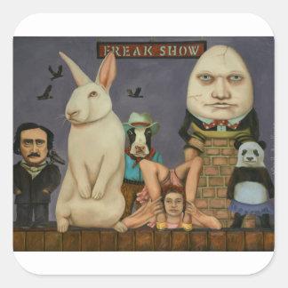 Freak Show Square Sticker