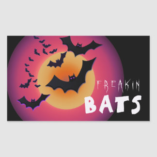 Freakin' Bats Halloween ID223 Rectangular Sticker