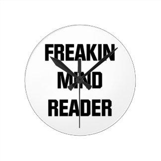 Freakin Mind Reader Round Clock
