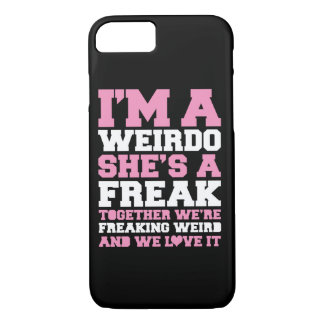 Freakin Weird Best Friends Pink iPhone 8/7 Case