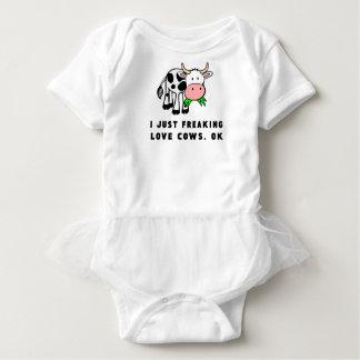 Freaking love cows ok baby bodysuit