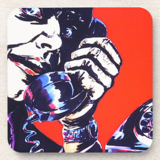 Freaky Angry Telephone Man 1970's Coasters