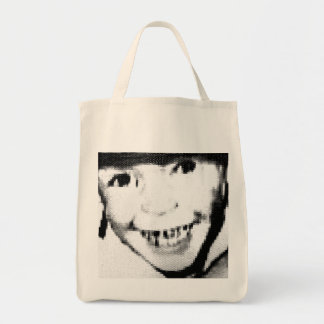 Freaky Bad Boy Grocery Tote Black/White Grocery Tote Bag