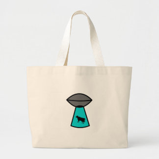 Freaky Cow Ufo Tote Bags