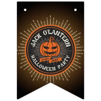 Freaky Jack o' Lantern. Halloween Party. Bunting
