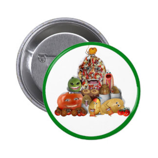 Freaky Junk Food Pyramid Pinback Buttons