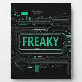 Freaky tech. plaque