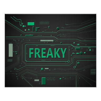 Freaky tech. poster