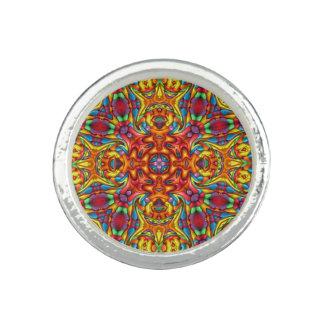 Freaky Tiki Kaleidoscope   Custom Rings