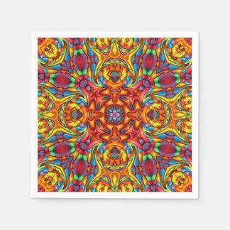 Freaky Tiki Kaleidoscope    Paper Napkins, 5 style Paper Napkins