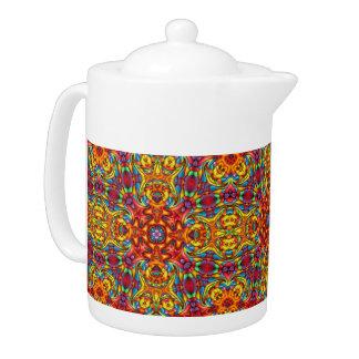 Freaky Tiki Kaleidoscope   Pattern  Teapots