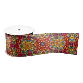 "Freaky Tiki Kaleidoscope    Ribbon. 1.5"" or 3"" Satin Ribbon"