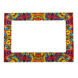 Freaky Tiki Pattern  Magnetic Picture Frames
