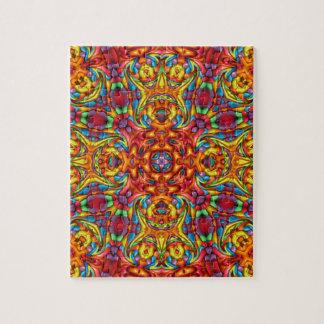 Freaky Tiki Vintage Kaleidoscope Jigsaw Puzzle