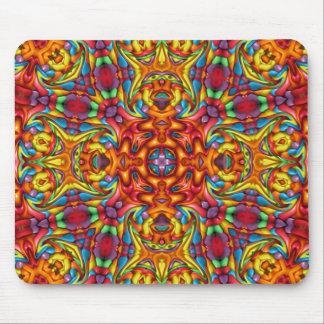 Freaky Tiki Vintage Kaleidoscope Pattern Mousepad