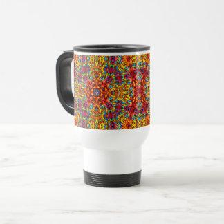 Freaky Tiki Vintage Kaleidoscope Travel Mug