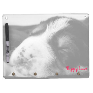 Freckled Nose Puppy Horizontal Dry Erase Board